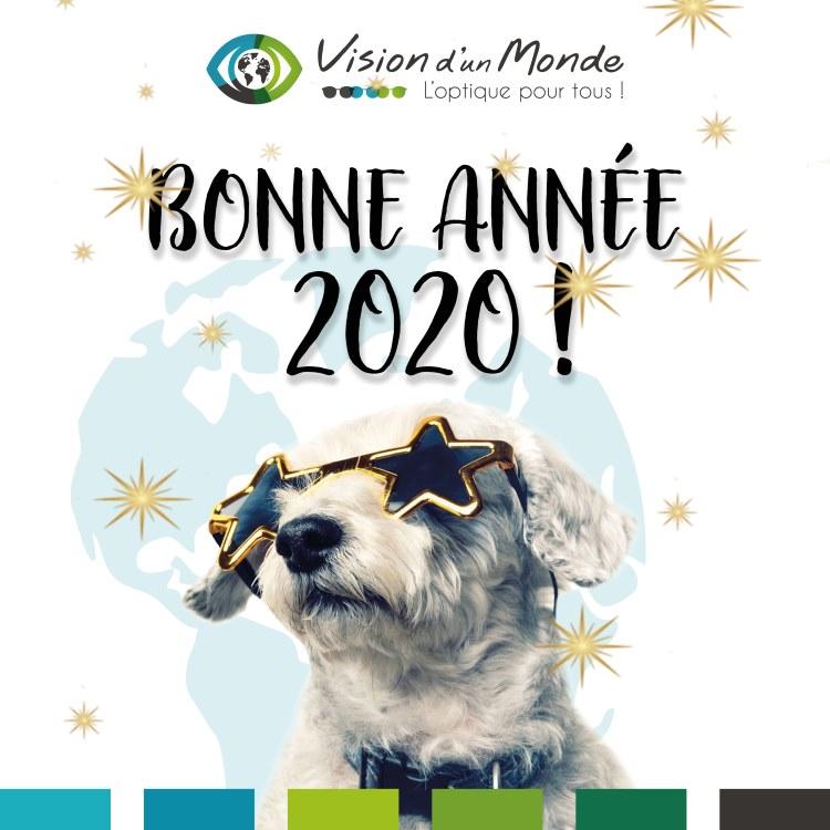 Bonne année 2020 vision dun monde