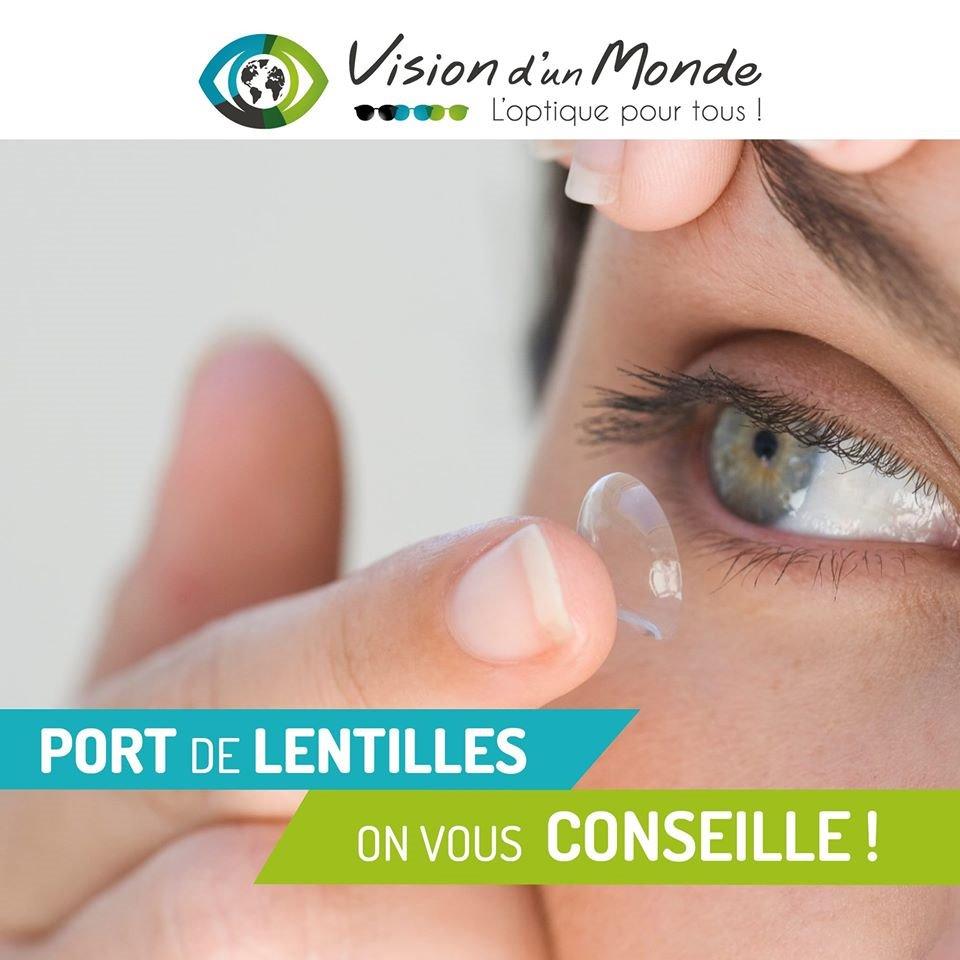 On vous conseille sur le port de lentilles